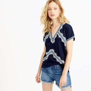 J. Crew Embroidered Tunic T-Shirt